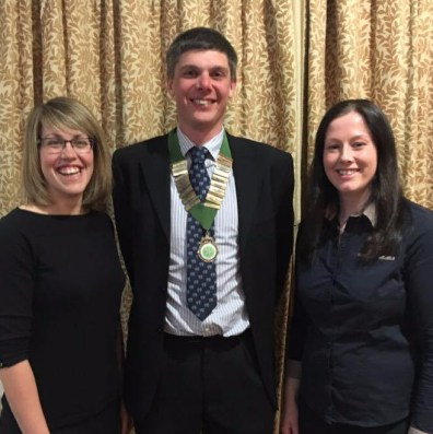 Centre: County Chairman John Craddock, Left & Right: County Vice Chairmen Kirsty Searby & Georgina Fort