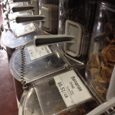 Dried Fruits at 4th Street Food Co-op, NYC, March 6, 2015, photograph by Emily Rogers.