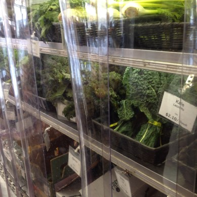 Vegetables Available for Daily Purchase at 4th Street Food Co-op, NYC, March 6, 2015, photograph by Emily Rogers.