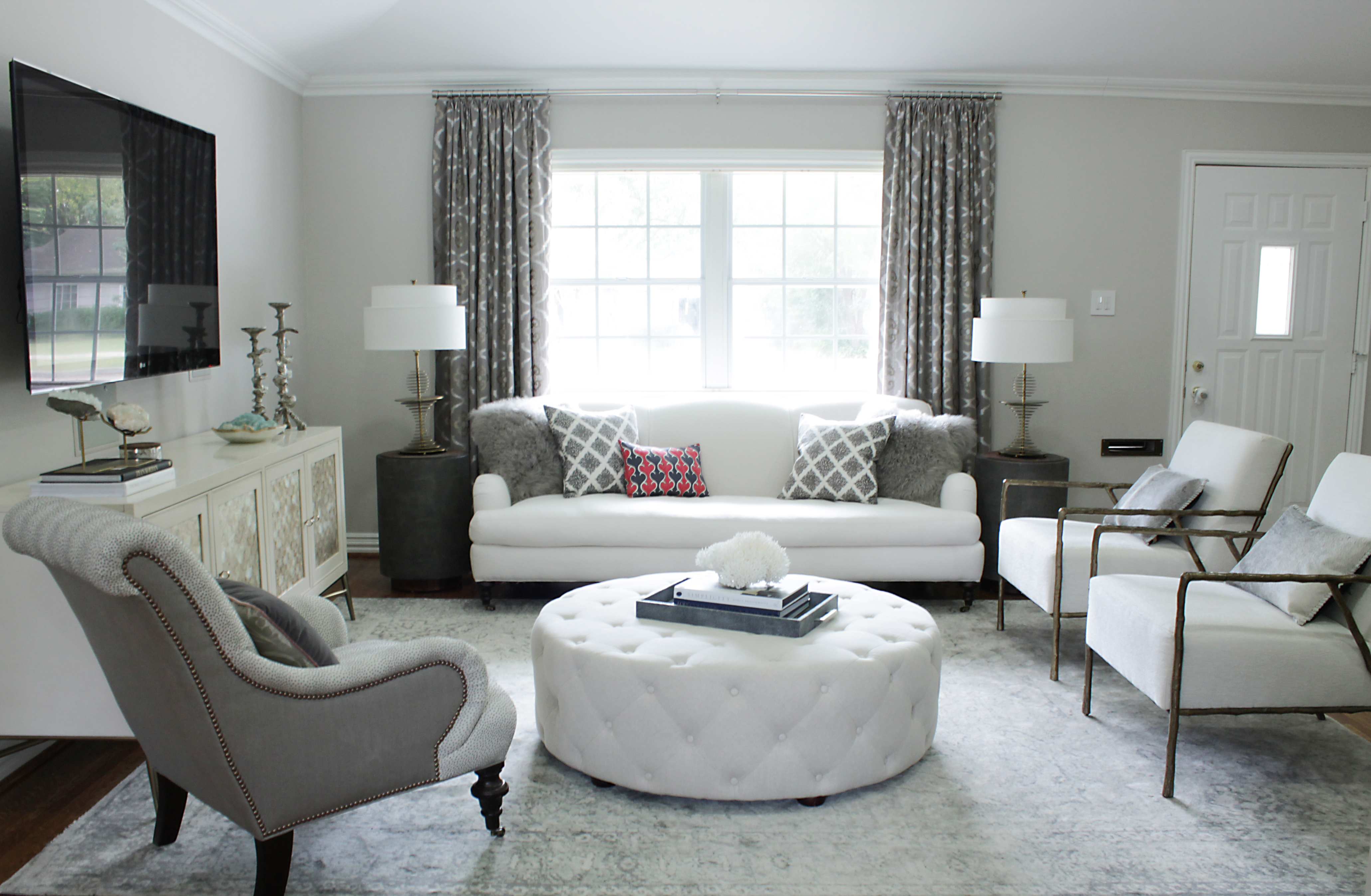 Before &, After: An Elegant, Budget-Friendly Living Room
