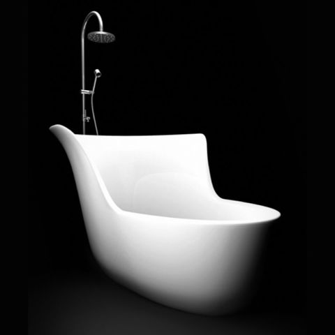 Perfect for a relaxing soak, this tub also adds a sculptural quality to any bathroom, thanks to its unconventional shape. Price upon request; marmorin.pl