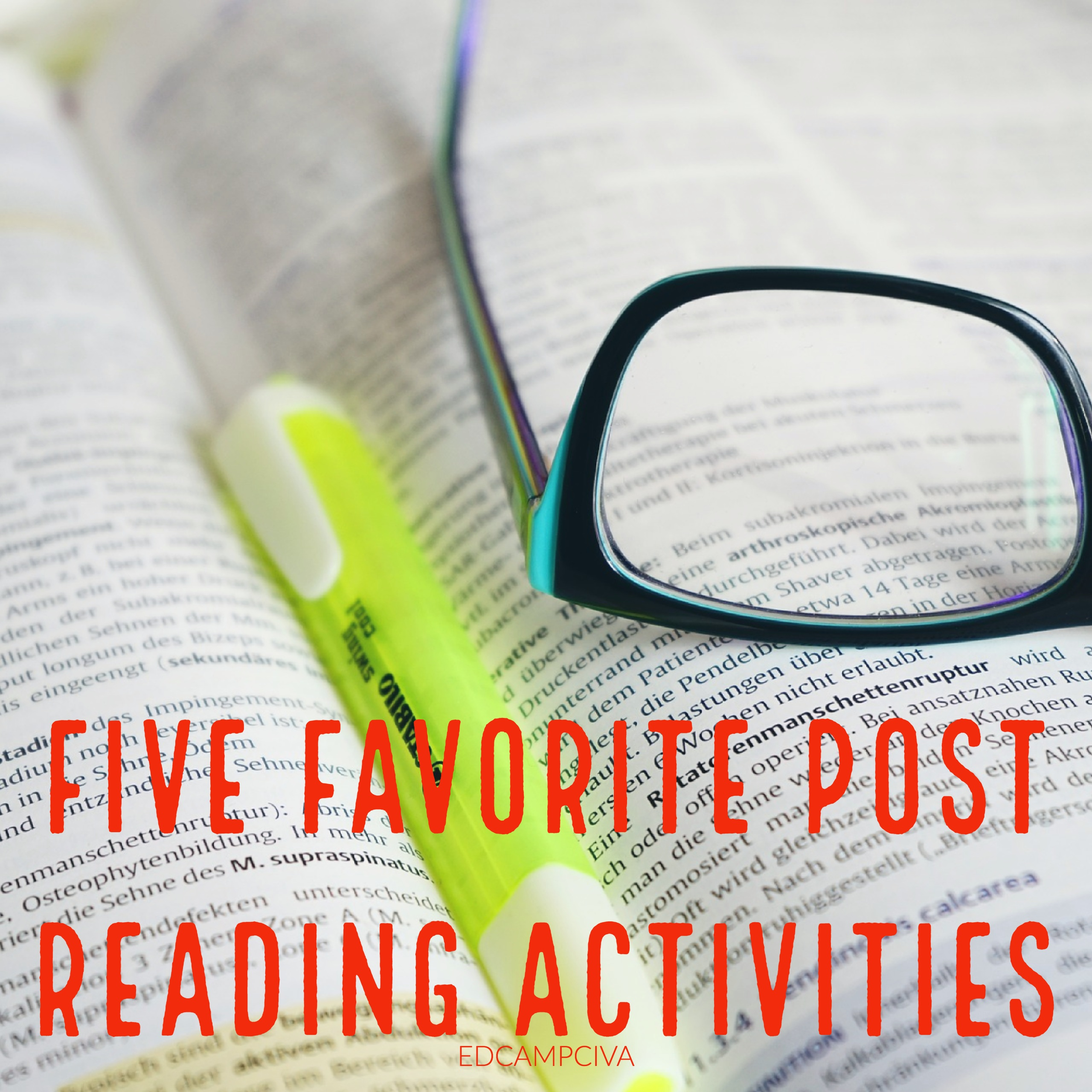 Five Favorite Post Reading Activities