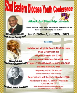 52nd Eastern Diocese Youth Conference