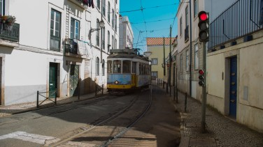 I love how tight the streets are in the old town with the trams bombing around way too fast.