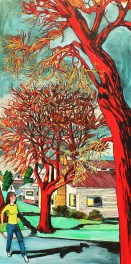 "Red Tree on Corner, 2010, 60"" x 30"", with 16% Discount $4,535"