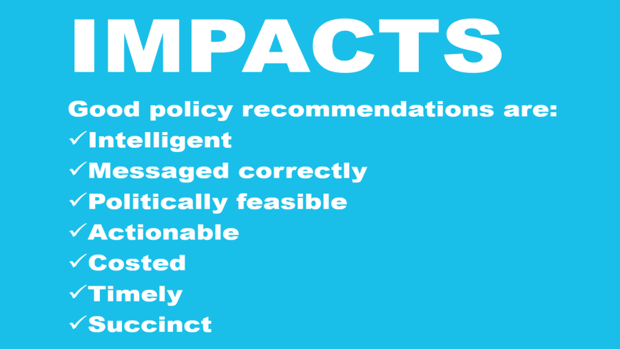 How to write policy recommendations that influence policy