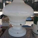 Before After Vintage Porcelain Light Fixture