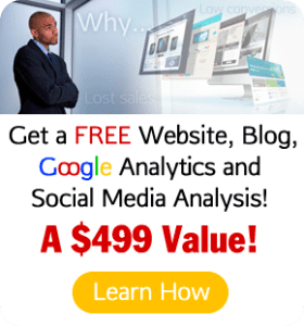 Get a FREE Website, Blog, Google Analytics and Social Media Analysis!