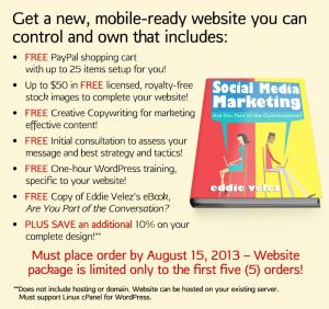 Get a new, mobile-ready website you can control and own that includes: