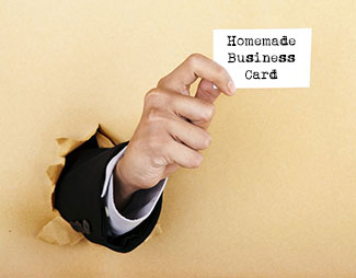 homemade business card