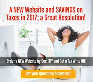 Order a New Website in 2016 and get a Tax Write Off in 2017