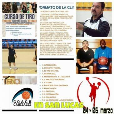 Coach Canizalez en San Lucas, del 4 al 6 de Marzo
