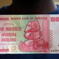 Zimbabwe Terbitkan Uang 100 Juta Dolar