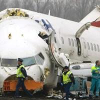 Pesawat Turkish Airlines Pecah Jadi 3 Bagian