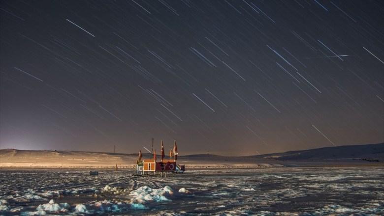 Çıldır Gölü'nde kartpostallık görüntüler