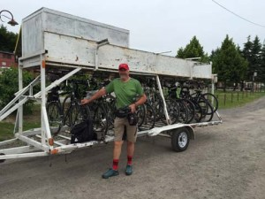 P'tit Train du Nord - Bicycles Loaded for the Shuttle Ride to Mont Laurier