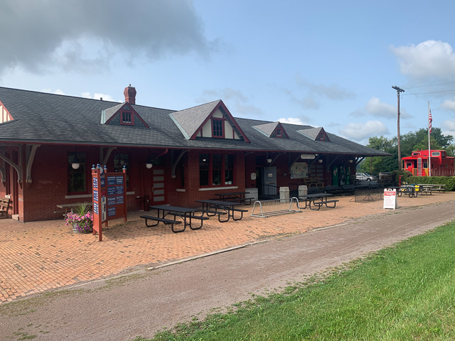Historic railroad station in Meyersdale PA