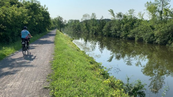 Shows Cycle The Erie Canal trail conditions near Syracuse