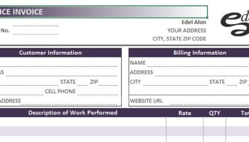 invoice template excel 2013 | edel alon, Invoice examples