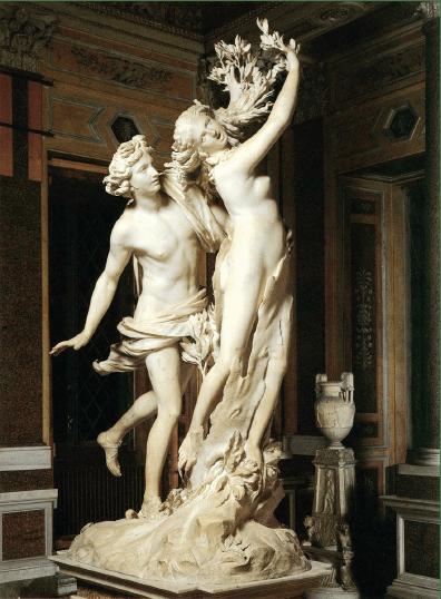 Bernini, Apolo y Dafne, 1622-1625. (Galería Borghese, Roma)