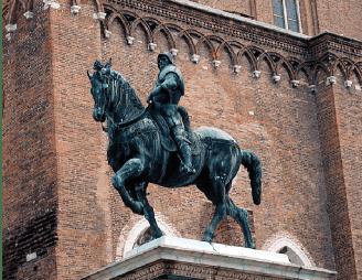 Andrea Verrochio, monumento ecuestre de Colleoni, 1479-1488. elaborado en Bronce, (Campos de san juan y de San Pablo, Venecia)