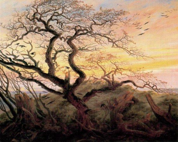 David Friedrich, el árbol de los cuervos, museo de Louvre, París, 1822.