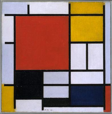 Piet Mondrian, Composición en rojo, amarillo, azul y negro, 1926.