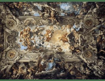 Pietro de Cortona, Bóveda del palacio Barberini, 1639. (Roma)