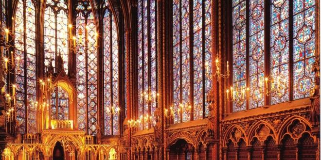 Vidrieras de Saint-Chapelle, París.