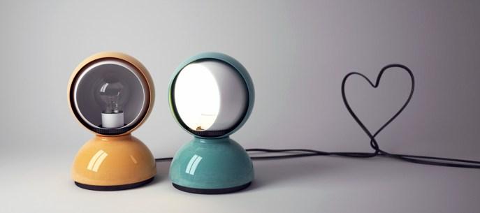 "Vico Magistretti, lámpara ""Eclisse"", 1966."