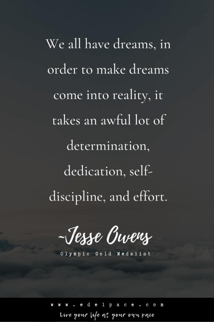 Jesse Owens on dreams