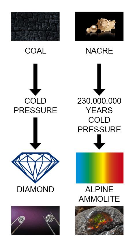 Ammolite and Diamonds