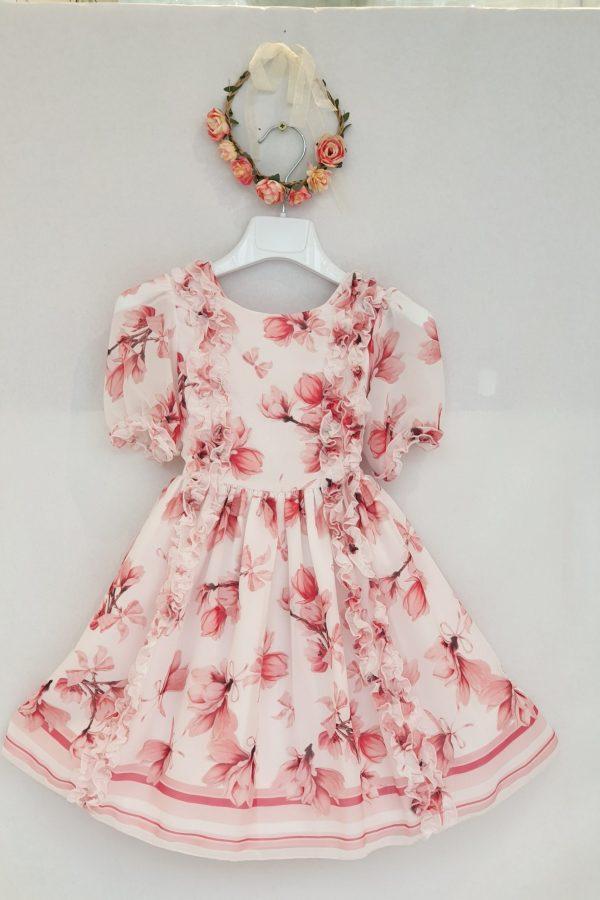 Robe fleurs roses Patachou