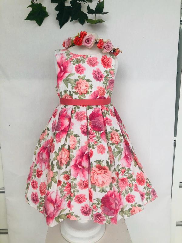 Robe imprimé fleurs 59 euros robe en coton doublée coton