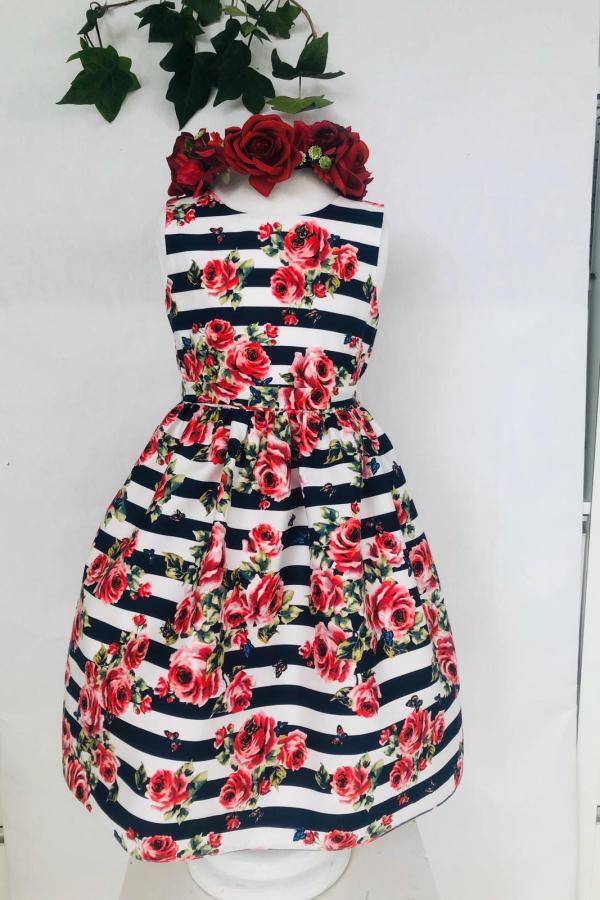Robe rayée marine et rouge 49 euros robe en coton doublée coton