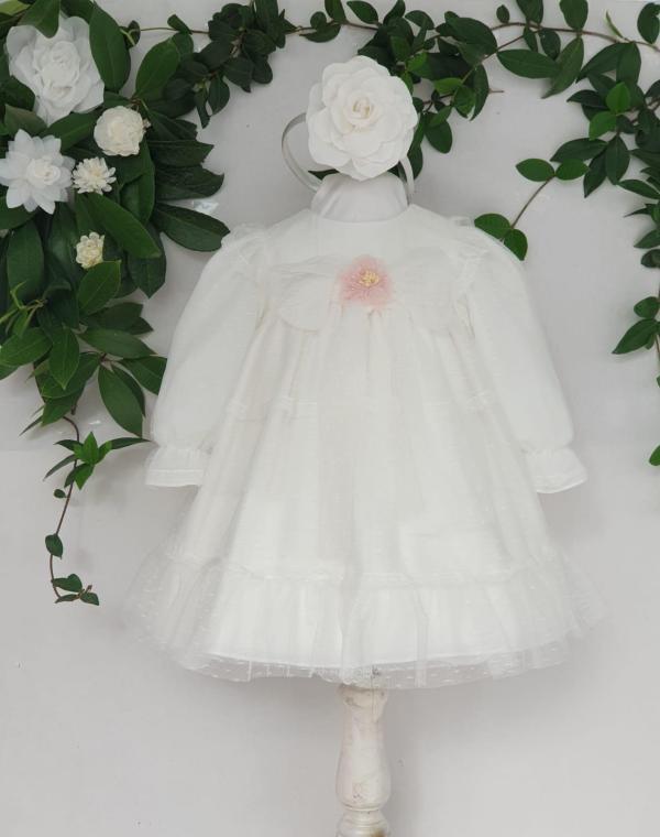 Bapteme robe de bapteme courte plumetis Mayoral ECRU 65 euros de 3 mois au 3 ans