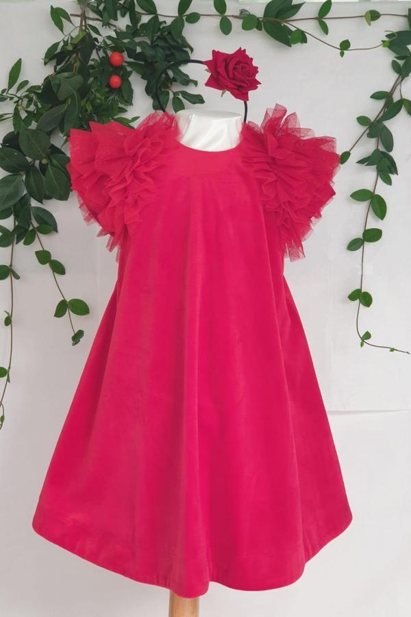 Robe velours rouge Mayoral 39 euros du 2 ans au 9 ans
