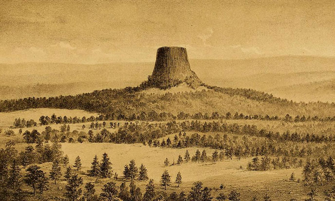 Devils_Tower_historical_drawing_1880-688po