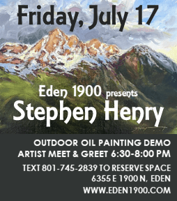 Eden1900 OVN ad 2020 07 17 - Eden 1900 Art Gallery to host live, outdoor, oil painting demonstration and artist meet and greet event