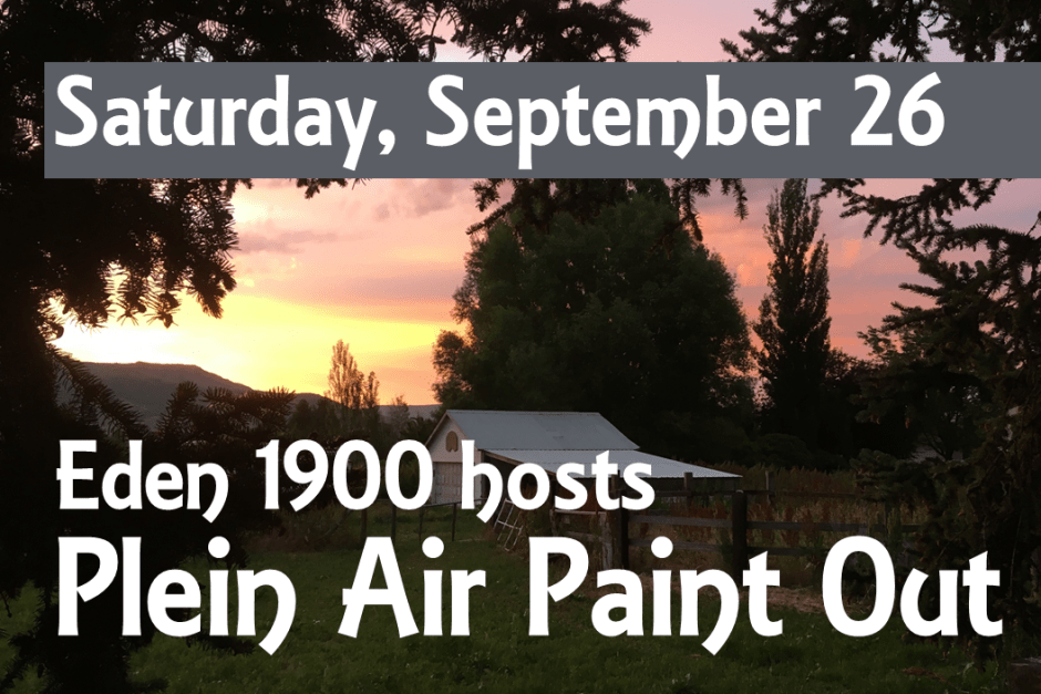 September 26 Paint Out for FB 1024x683 - Eden 1900 Art Gallery to host three upcoming art events