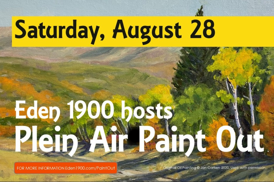 August 28 Paint Out for FB 1 1024x683 - Local art gallery, Eden 1900, announces upcoming contests