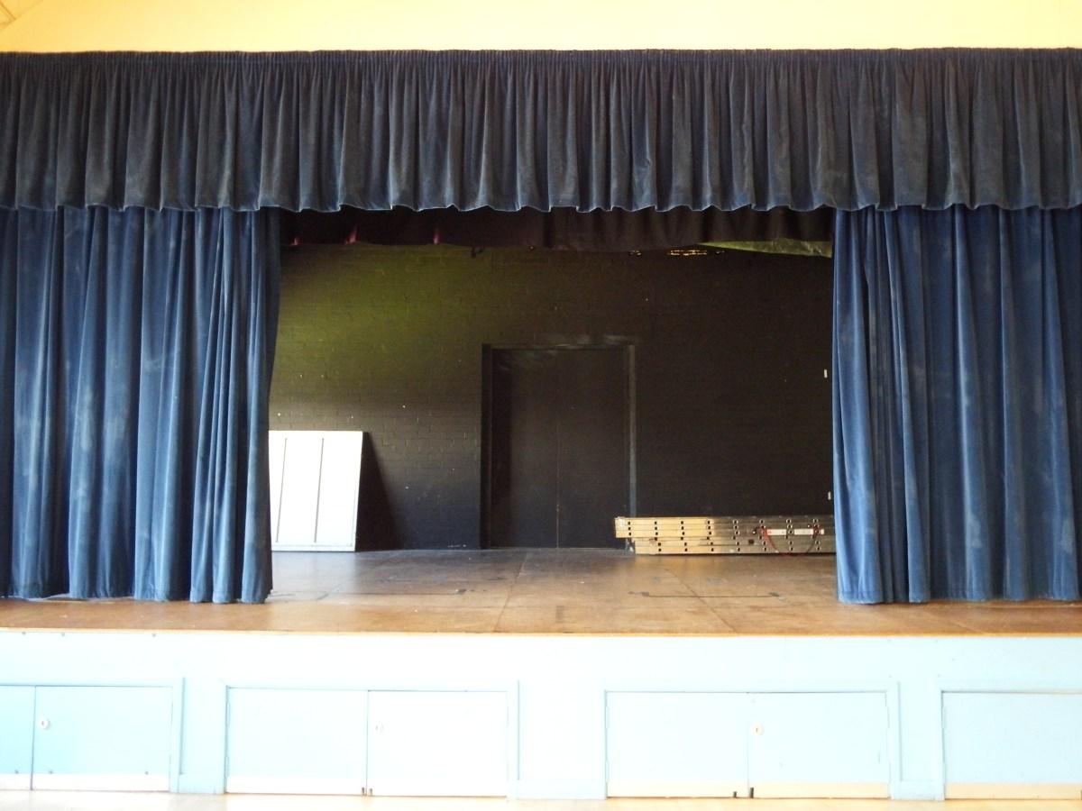 stage facilities at edenbridge village hall