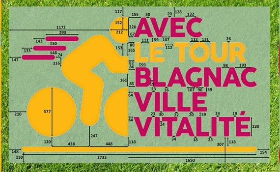 Logotipo monumental Tour de Francia, comunicación, comunidad, empresa