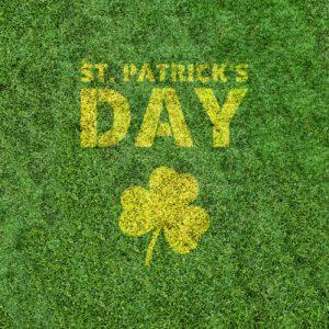saint patrick's day vegetal color edencolor sur pelouse