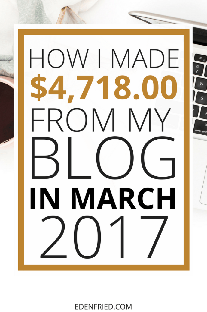 march 2017 blog income report