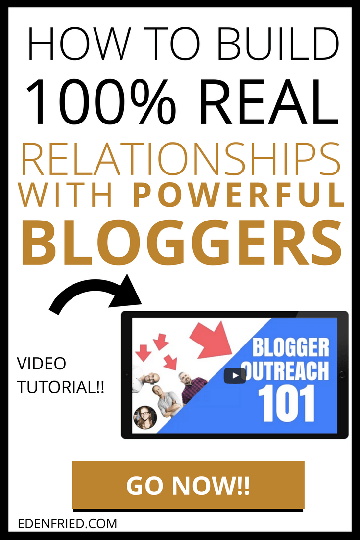 Want to connect and network with powerful bloggers in your space? Influencer marketing will take your biz to the next level. Read this post to learn what to do, what not to do, and more. Blogger outreach, influencer marketing, permission marketing, blogging tips. EdenFried.com, doyouevenblog.com
