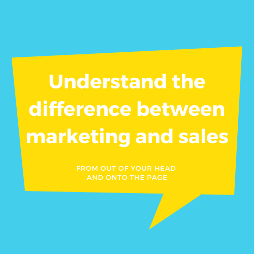 Understand The Difference Between Marketing And Sales