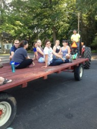 Work and Pick volunteers on a wagon ride