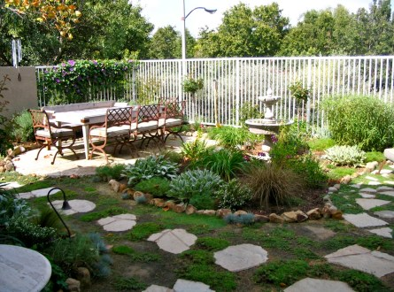 After- new outdoor dining patio