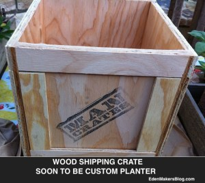 wood-crate-was up-cycled- as a planter- by shirley bovshow-edenmakersblog